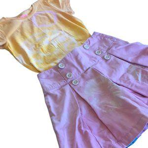 GYMBOREE Girls size 7 skirt / skort with bonus tee